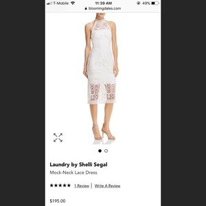 Laundry by Shelli Segal Halter neck Lace Dress
